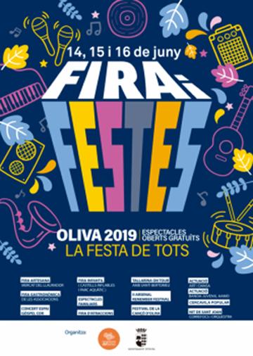 Cartell Fira i Fests Oliva 2019